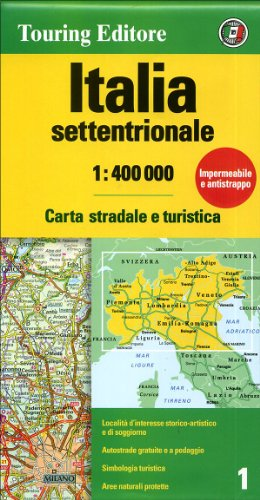 Road Map Of Italy In English.9788836546558 Italy North Touring Club Italiano Road Maps