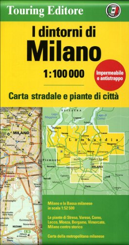 9788836546589: Milan and Surroundings: TCI 1:100K (English and Italian Edition)