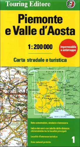 9788836548255: Piemonte e Valle d'Aosta 1:200.000 (Carte regionali 1:200.000)