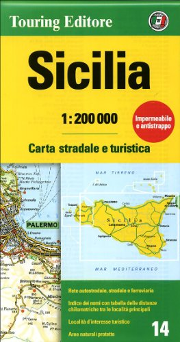Sicily {Sicilia} (Regional Road Map): Touring Club Italiano