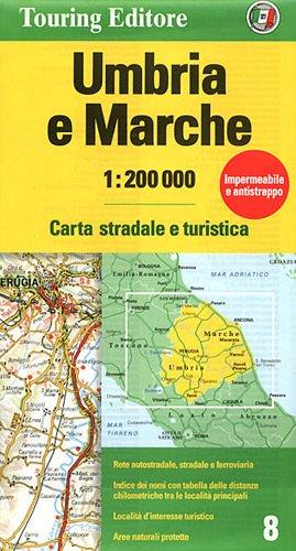 9788836548309: Umbria/Marche (Regional Road Map)