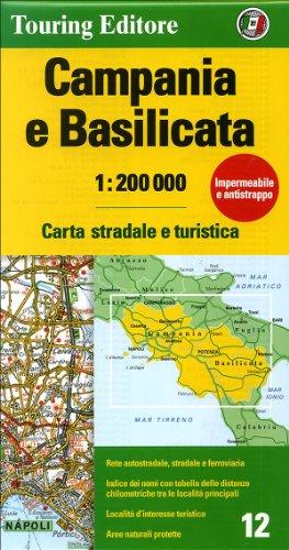 Campania e Basilicata Carta Stradale e Turistica 1:200 000 (Regional Road Map) - Touring Club Italiano