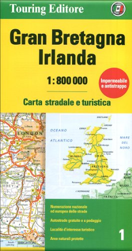 Irlanda Cartina Turistica.9788836556526 Gran Bretagna E Irlanda 1 800 000 Carta Stradale E Turistica Abebooks 8836556523