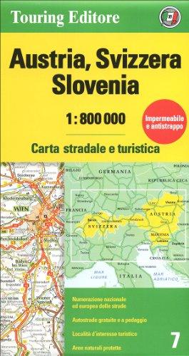 9788836559930: Austria, Svizzera, Slovenia 1:800.000. Carta stradale e turistica
