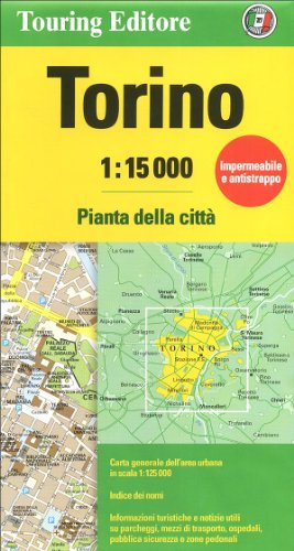 Road Map Of Italy In English.9788836562374 Torino Turin 1 15 000 Tci City Road Map English