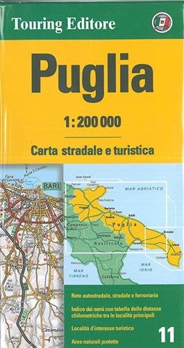 Puglia TCI Map 1:200K (Italian Edition): Touring Club Italiano