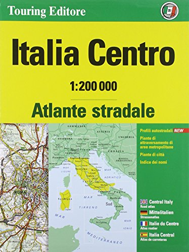 9788836563746: Road atlas of Central Italy 1:200,000
