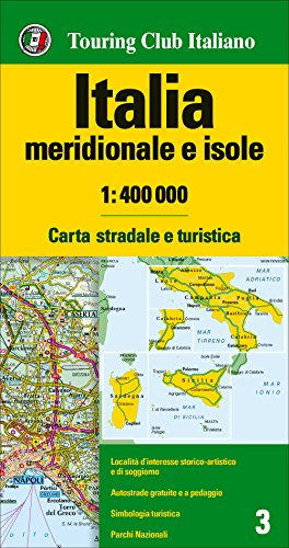 9788836569090: Italia meridionale e isole 1:400.000. Carta stradale e turistica (Carte d'Italia 1:400.000)
