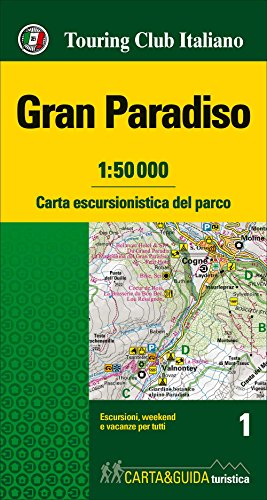 Gran Paradiso 1 map&guide 2017 (Mixed media: Touring Editore