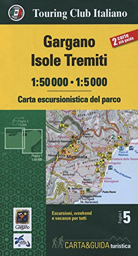 Gargano, Isole Tremiti map&guide 2018 (Mixed media: Touring Editore