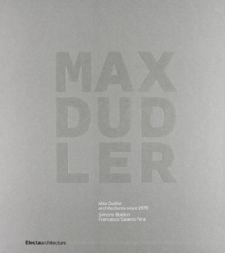 9788837092504: Max Dudler: Architectures since 1979