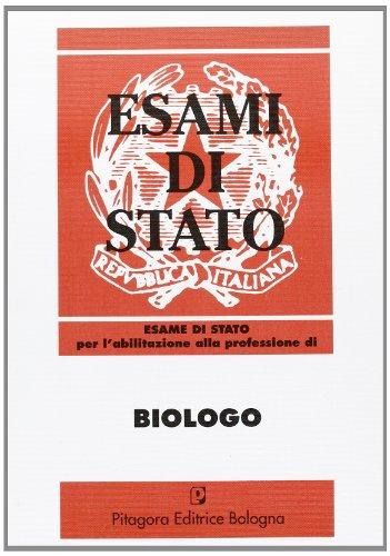 9788837109226: Esame di Stato per l'abilitazione alla professione di biologo (1986-1996)