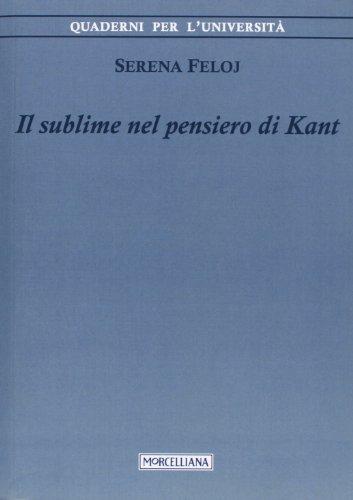 9788837226756: Il sublime nel pensiero di Kant (Quaderni per l'università)