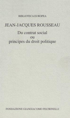 9788838002472: Du contrat social ou principes du droit politique (Biblioteca europea)