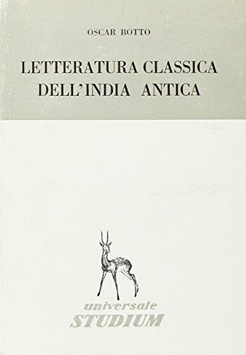La letteratura classica dell'India antica: Oscar Botto