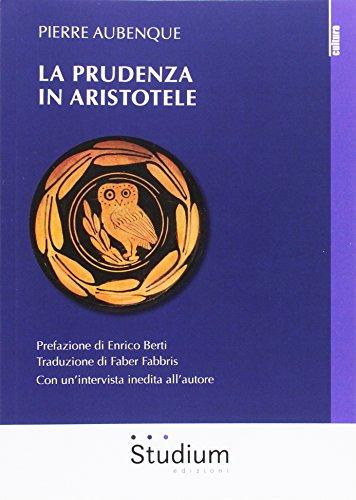 9788838244162: La prudenza in Aristotele (La dialettica)