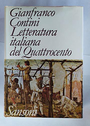 9788838300837: Letteratura italiana del Quattrocento