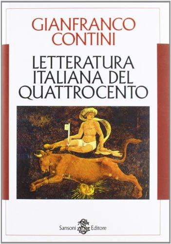 9788838303227: Letteratura italiana del Quattrocento