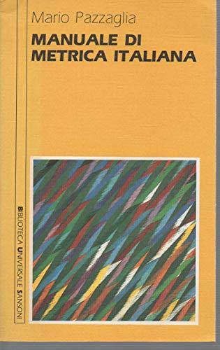 9788838310799: Manuale di metrica italiana (Biblioteca universale Sansoni) (Italian Edition)