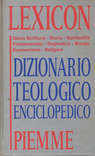 9788838419751: Lexicon: Dizionario teologico enciclopedico (Italian Edition)