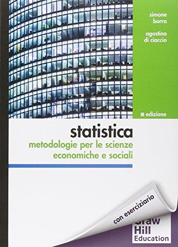 9788838615160: Statistica: metodologie per le scienze economiche e sociali. Con aggiornamento online