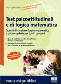 Test psicoattitudinali e di logica matematica: Cotruvo, Giuseppe