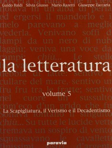 9788839517364: La letteratura. Per le Scuole superiori: 5