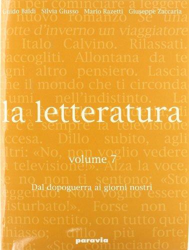 9788839517388: La letteratura. Per le Scuole superiori: 7