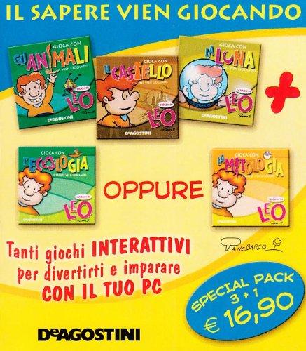 9788841845684: I giochi di Leo. Il sapere vien giocando: Gioca con il castelloGioca con la lunaGioca con gli animaliGioca con l'ecologia. CD-ROM.
