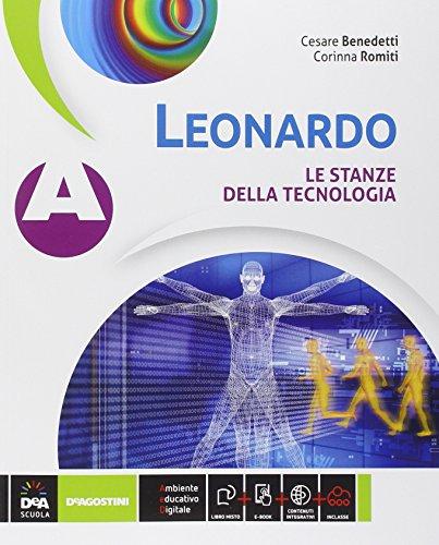 9788841887387: Leonardo. Vol. A-B-C: Le stanze della tecnologia-Disegno e progettazione-Informatica e progettazionene. Per la Scuola media. Con e-book. Con espansione online