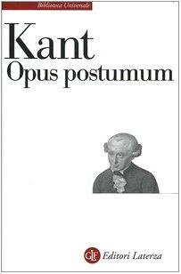9788842024378: Opus postumum