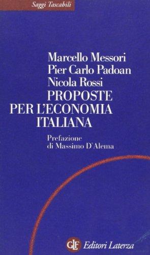 9788842055464: Proposte per l'economia italiana