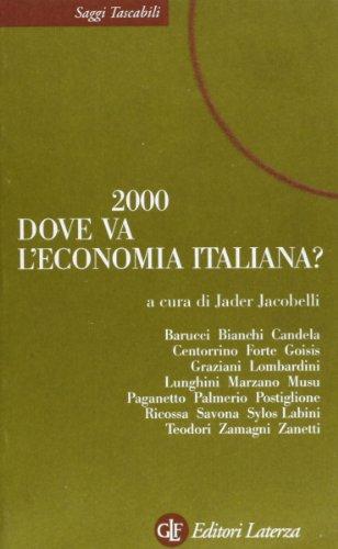 2000. Dove va l'economia italiana?: Jader Jacobelli