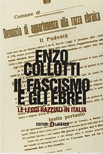 9788842071310: Il fascismo e gli ebrei. Le leggi razziali in Italia