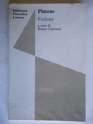 9788842102472: Fedone (Biblioteca filosofica Laterza)