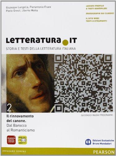 9788842433088: Letteratura.it. Ediz. gialla. Con espansione online. Per le Scuole superiori: 2
