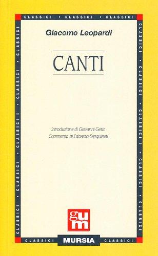 9788842505303: Canti (Grande Universale Mursia)
