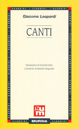 9788842505303: Canti (Italian Edition)