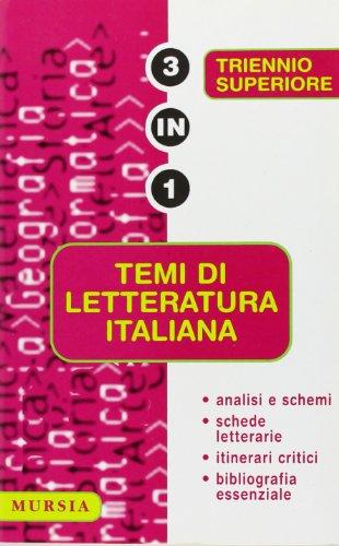 Temi di letteratura italiana. (Paperback)