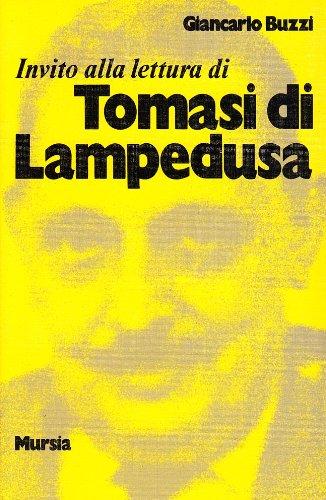 9788842508809: Invito alla lettura di Tomasi di Lampedusa (Invito alla lettura. Sezione italiana)