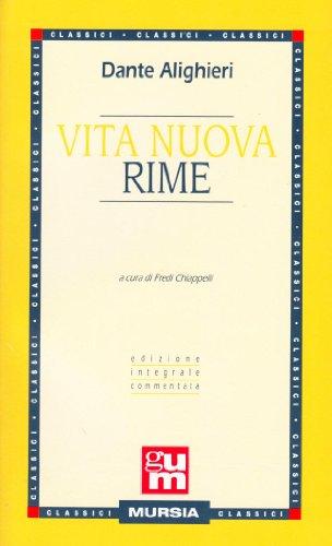 Vita Nuova Rime.: Dante.