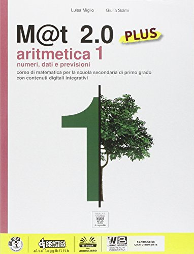 9788842653110: M@t 2.0 plus. Per la Scuola media. Con e-book: 1