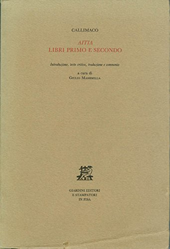 9788842700135: Aitia, libri primo e secondo (Biblioteca di studi antichi) (Italian Edition)