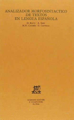 9788842704607: Analizador morfosintactico de textos en lengua española