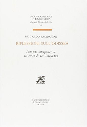 Riflessioni sull'Odissea.: Ambrosini, Riccardo