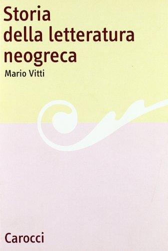 9788843016808: Storia Della Letteratura Neogreca