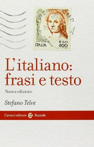 9788843069606: L'italiano: frasi e testo