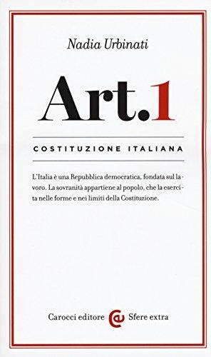 9788843088577: Costituzione italiana: articolo 1