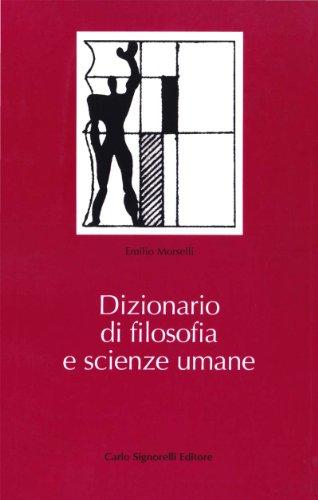 9788843400959: Dizionario di filosofia e scienze umane