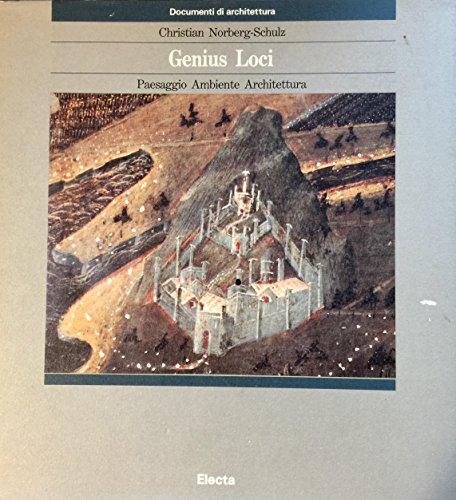 9788843519613: Genius Loci: Paesaggio, Ambiente, Architettura (Italian Edition)